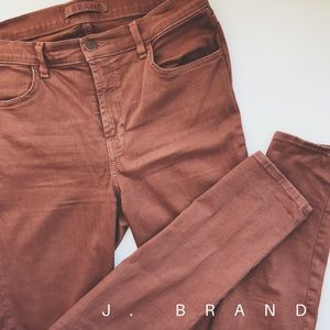 • J. Brand clay colored skinny jeans